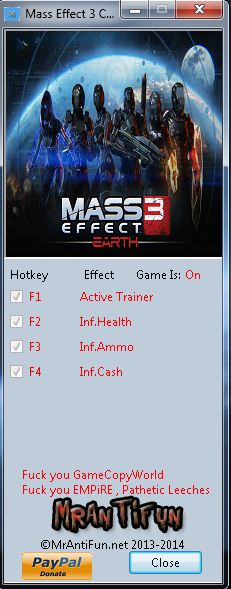 Mass Effect 3 Collectors Edition Trainer +3 MrAntiFun