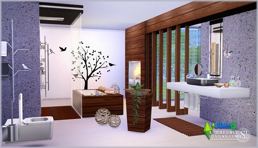 My sims 4 blog modernism bathroom set by simcredible designs for Bathroom ideas sims 3