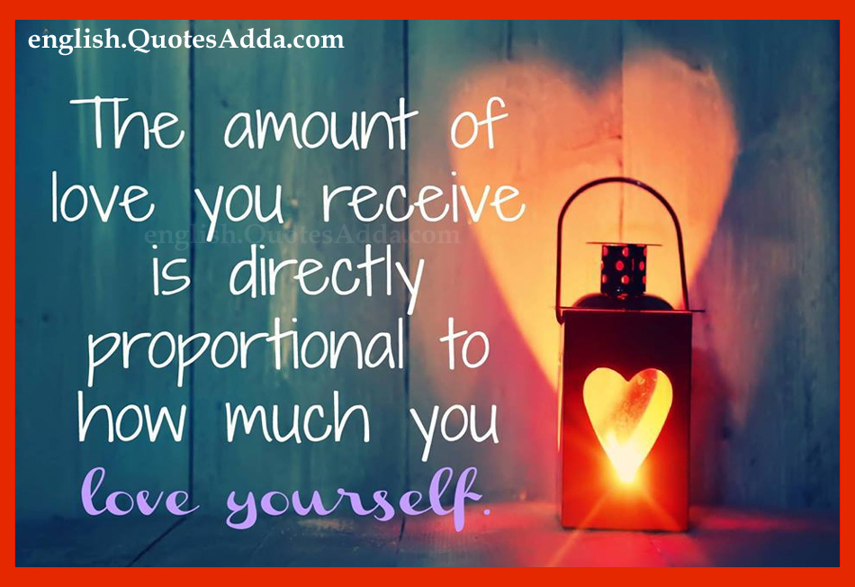 love yourself best positive thinking quotes in english