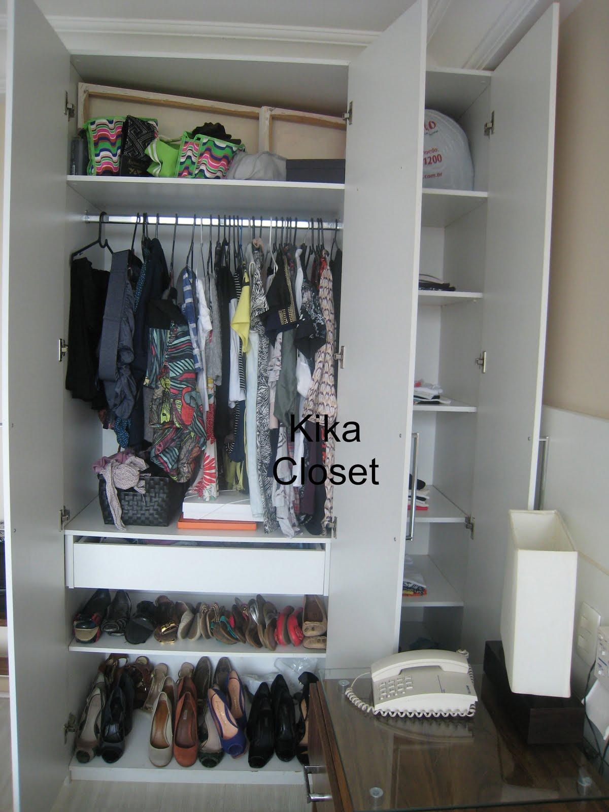 Armario De Banheiro Planejado ~ Kika Closet Organizando armario feminino