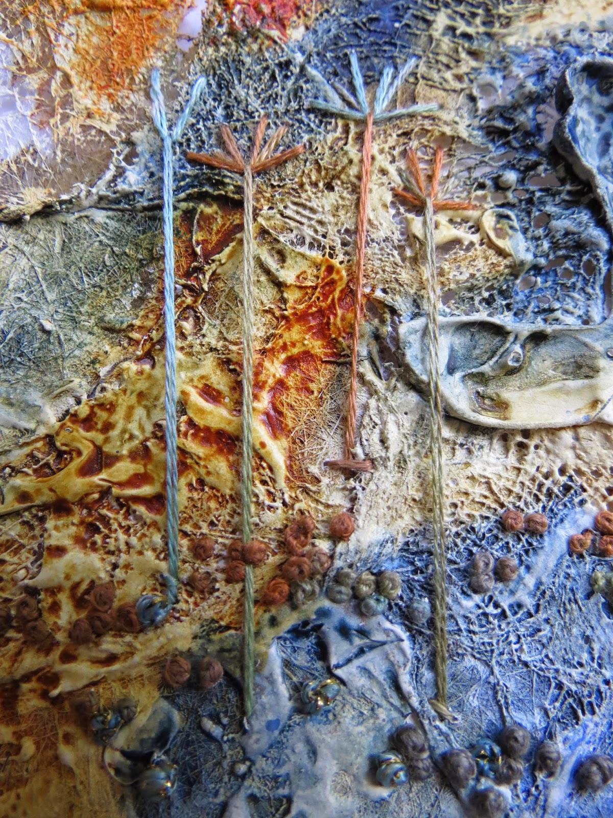 Carolyn Saxby Mixed Media Textile Art Tangles