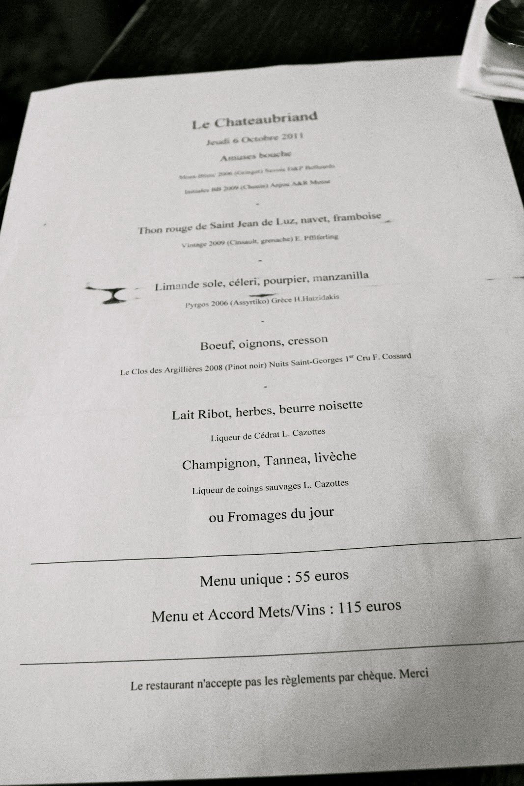 Beja beja may 2013 - Le comptoir du relais restaurant menu ...