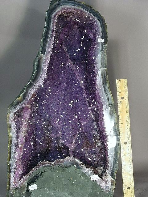 Amethyst lined geode