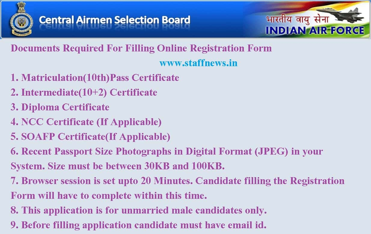 airmen selection list