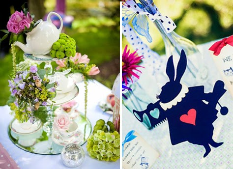 Burkill Hall wedding theme photo alice in the wonderland theme