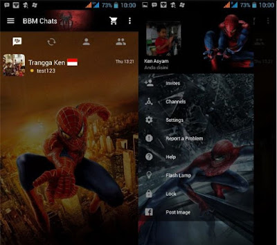 BBM MOD TEMA SPIDERMAN NEW V.2.12.0.9 FITUR LOAD THEME