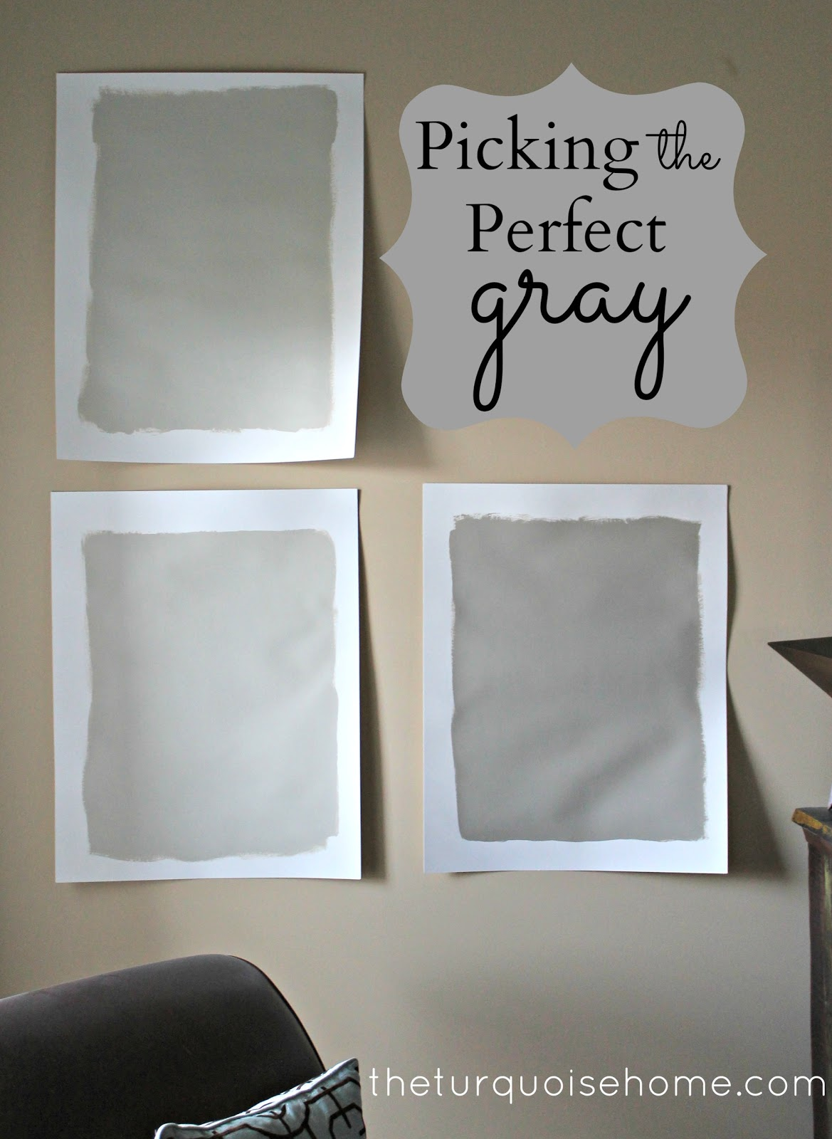 Picking the Perfect Gray Paint {Revere Pewter