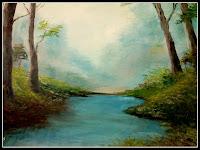 Riacho Doce - quadro de Claudeth - óleo sobre tela