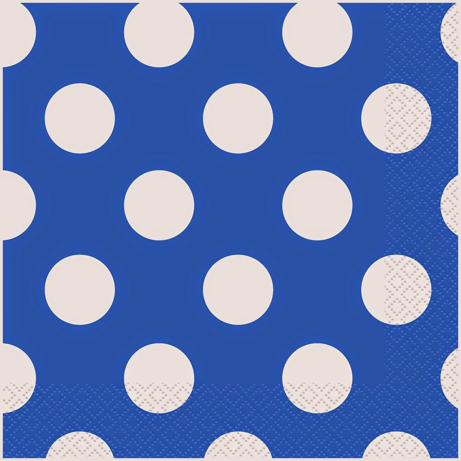 Blue Polka Dots Napkins