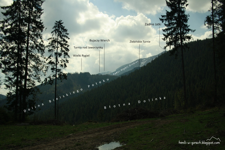 Panorama z Błotnego Siodła