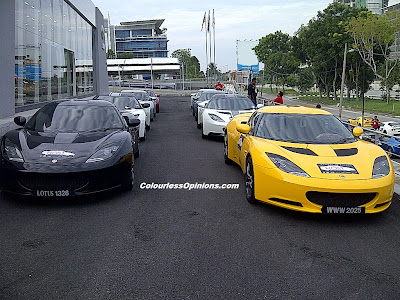Lotus Evora line up The Host Convoy Malaysia