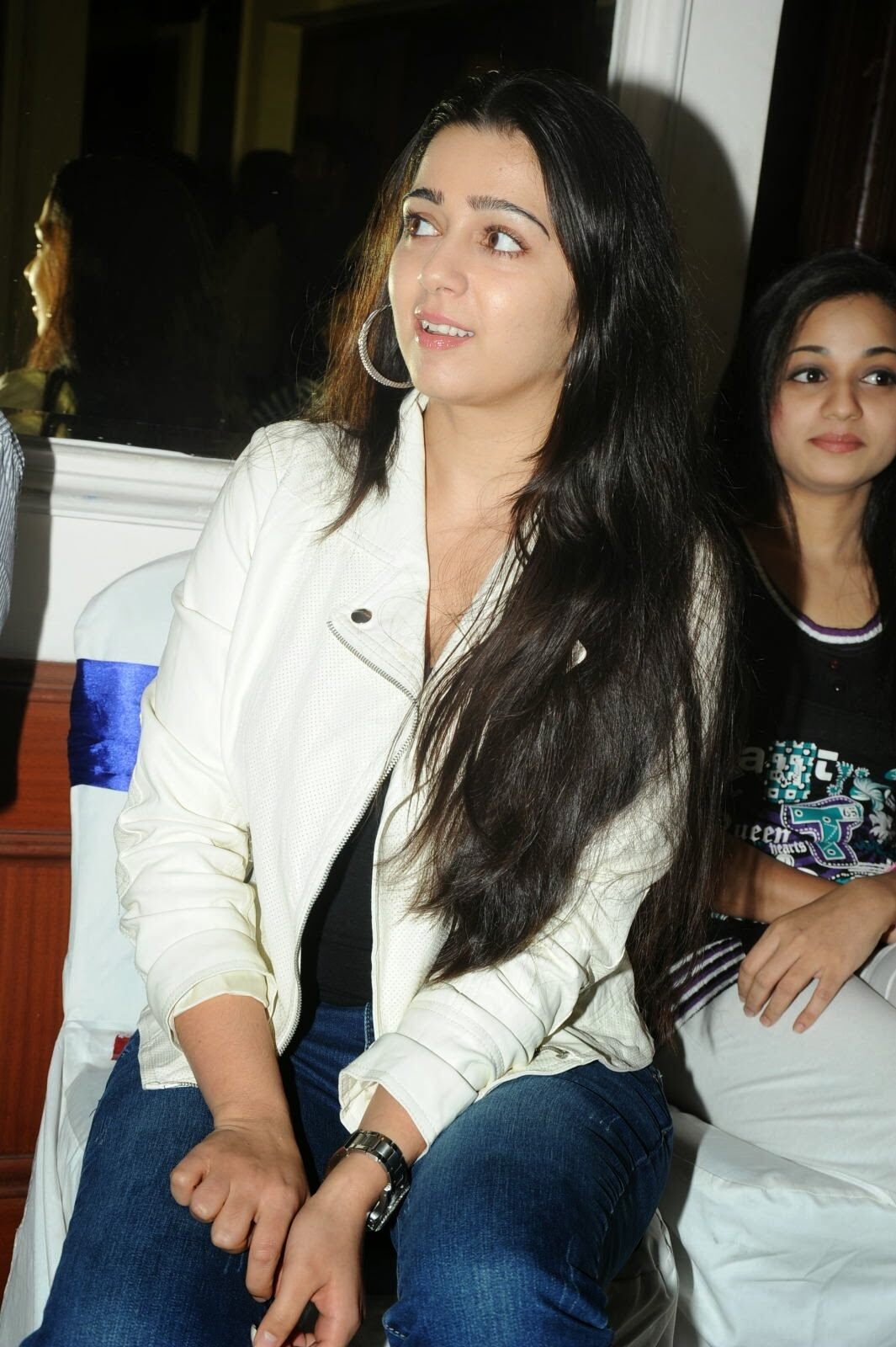 Actress Charmi Kaur Pictures in Jeans at One by Two Movie Celetes 20 Years Event  0154.jpg