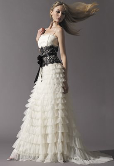 White Wedding Gown Black Lace : Black lace wedding dress enter your name here