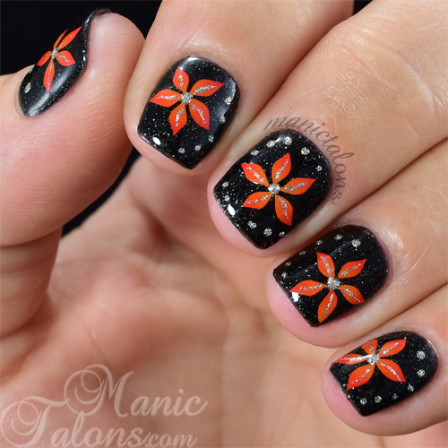 Pretty Flowers with Empower Nail Art Sunset Film