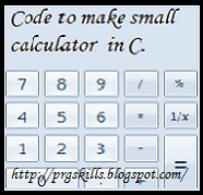 C Code to create simple calculator