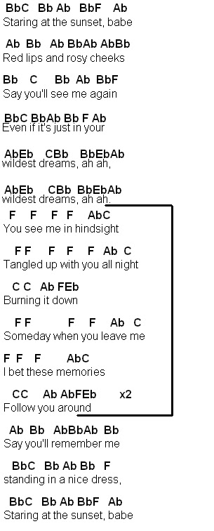 Flute Sheet Music Wildest Dreams