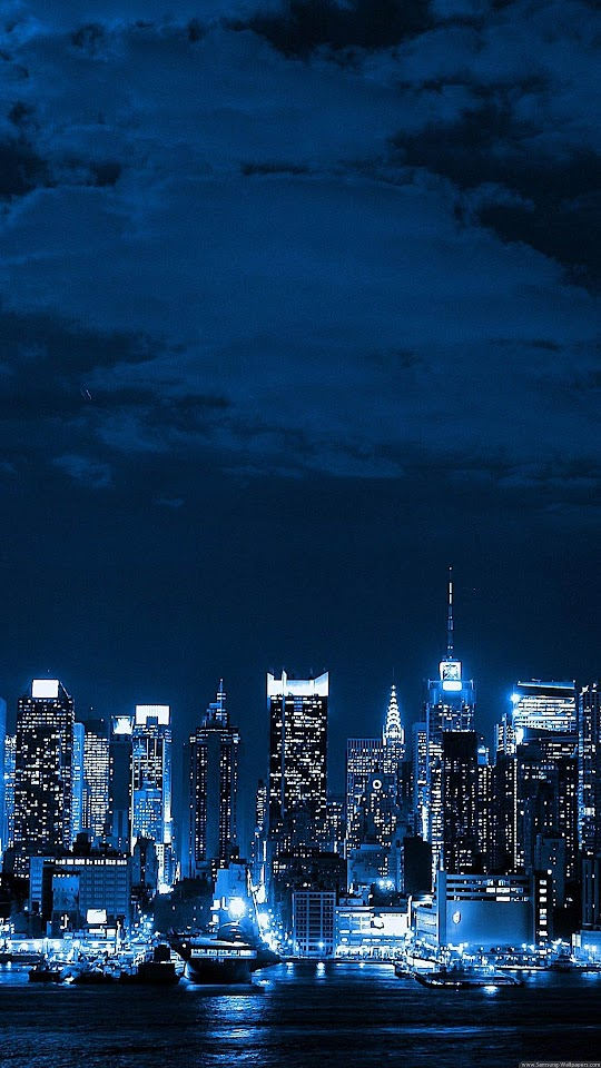 Metropolis Big City Night Skyline  Galaxy Note HD Wallpaper