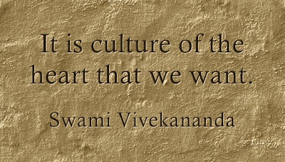 It is culture of the heart that we want.
