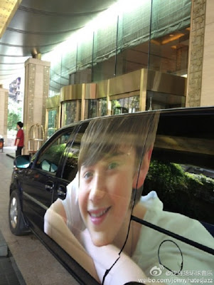 The Greysonmobile parked at the hotel in China July 2012 Custom Van