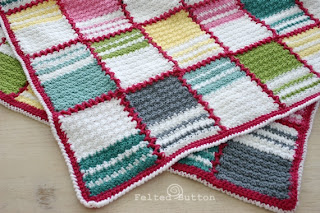 Patch Me a Line Blanket Crochet Pattern by Susan Carlson of Felted Button