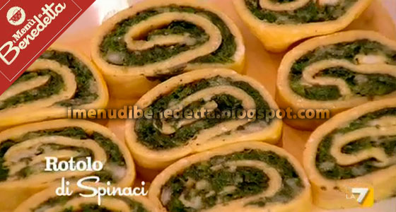 Rotolo di Frittata con Spinaci e Mozzarella di Benedetta Parodi