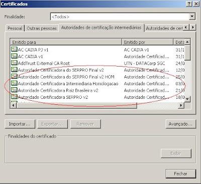 SEFAZ-SP Certificados V2 ICP-Brasil