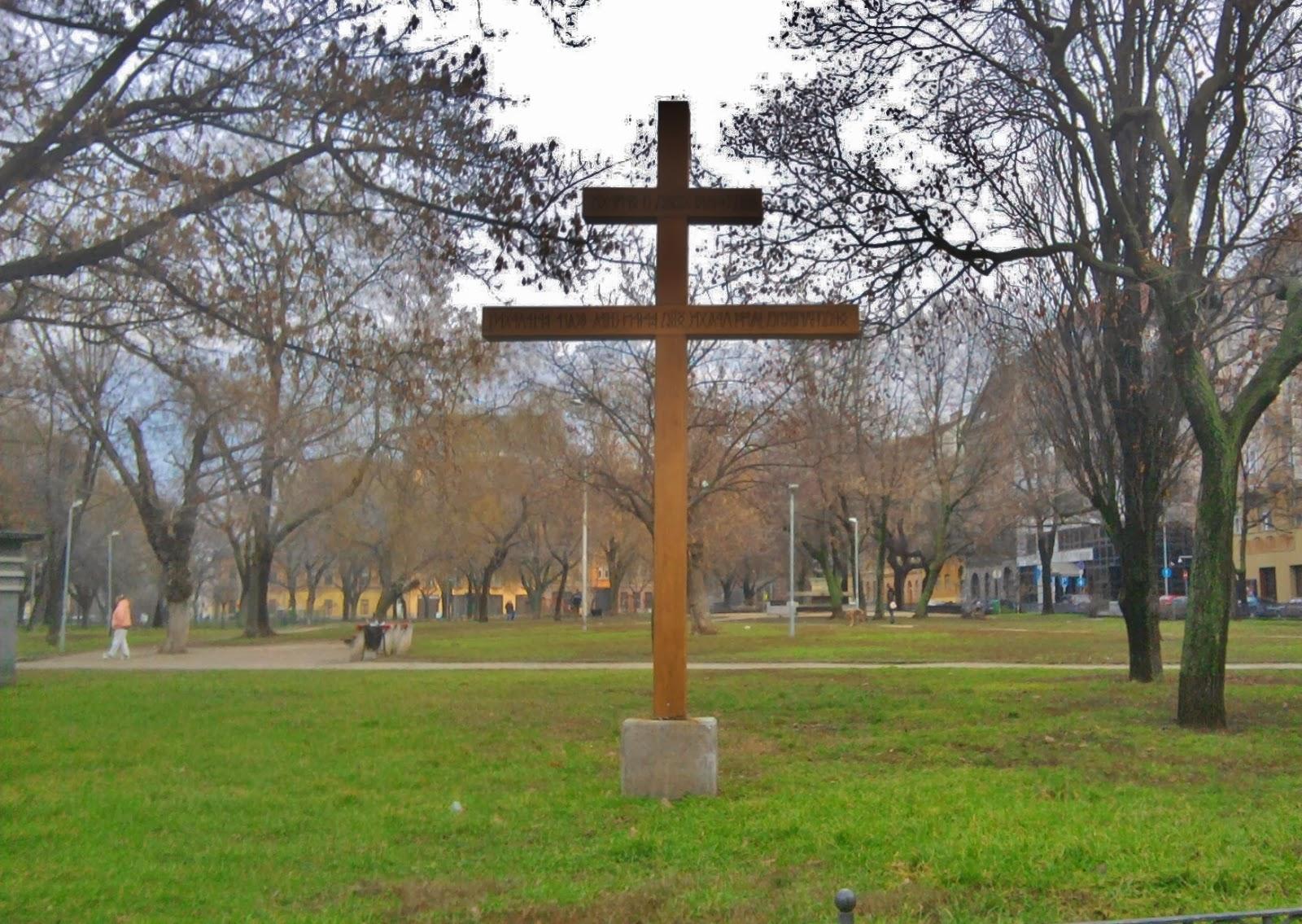 Kálvária tér, rovásírás, VIII. kerület, Jobbik, kettős kereszt, Baross utca, székely, Józsefváros
