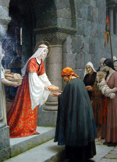 charity,Edmund Blair Leighton,saint