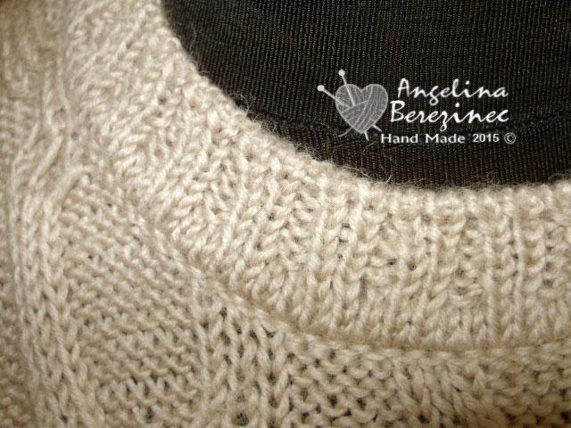мои работы, вязание спицами, пуловер,