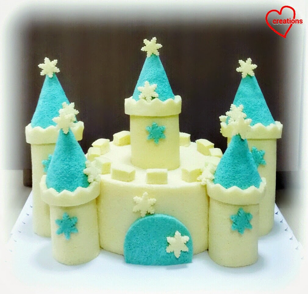 Loving Creations for You Frozen Castle Chiffon Cake