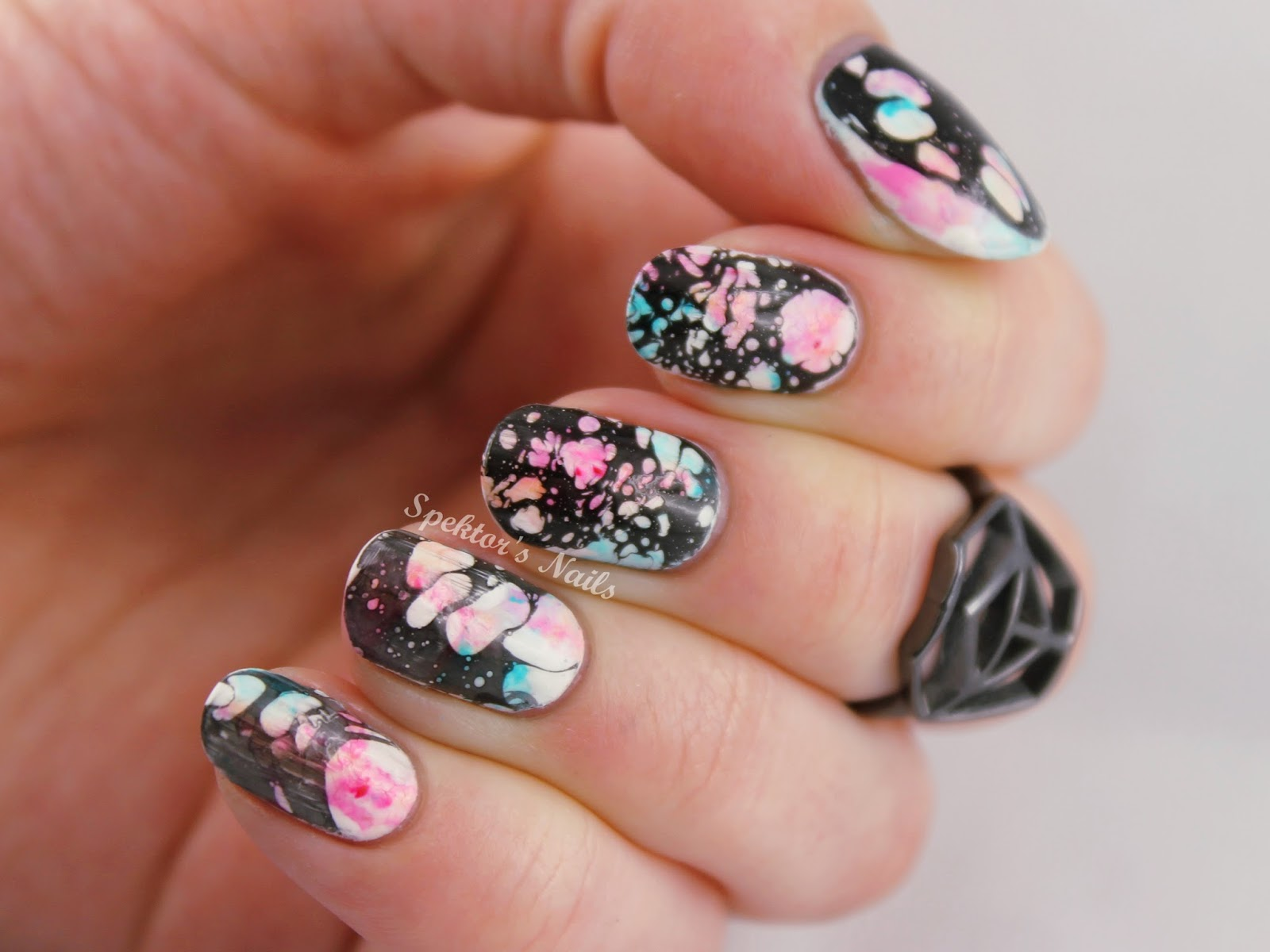 Marble Nails inspired by Madeline Poole