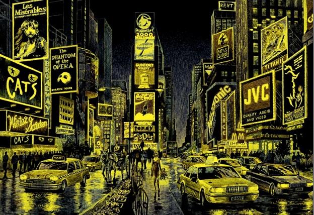 Times_Square_1000_Parça_Educa_neon_puzzle