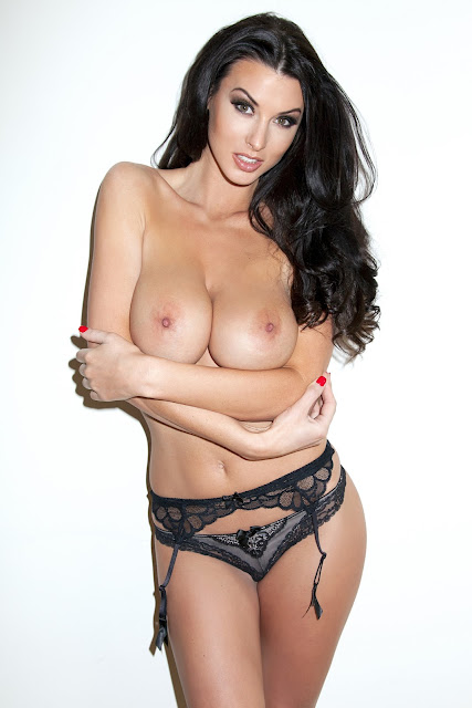 Alice Goodwin Topless, Naked And In Sexy See-Through Lingerie For Frank White Photoshoot