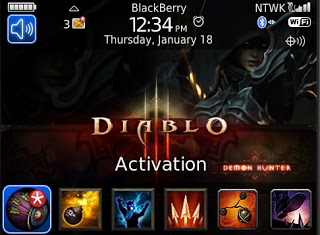 Theme Name : Blackberry Bold 9700 Free Diablo 3 Demon Hunter Theme