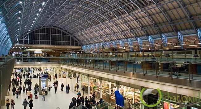 St pancras station, inggris