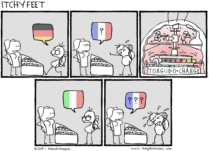 polyglots switching languages