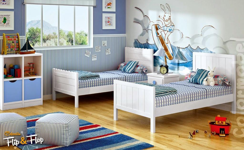 Publicado por xikara muebles en 11 09 - Habitaciones infantiles con dos camas ...