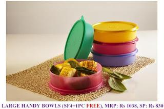 Tupperware large handy bowls