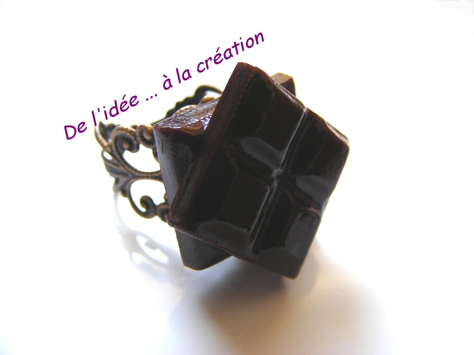 les bijoux gourmands de jocelyne bague chocolat. Black Bedroom Furniture Sets. Home Design Ideas
