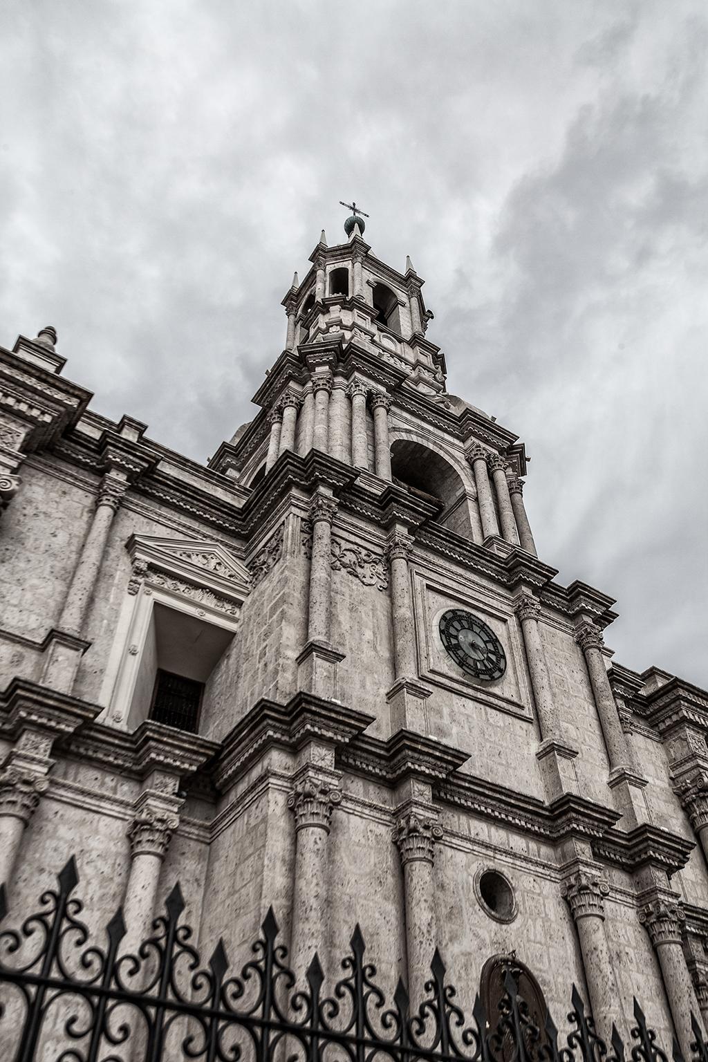 Detalle de la Basílica Catedral de Arequipa
