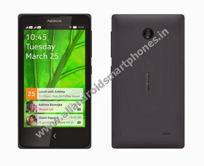 Nokia X+ 3G Dual Sim Android Smartphone Black Color Front Back Side Photos Images Review
