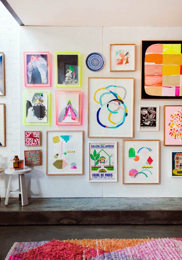 The Lovely Side: Brilliant Dorm & Apartment Wall Art Solution ...
