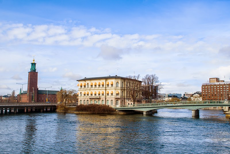 stockholm river and city hall