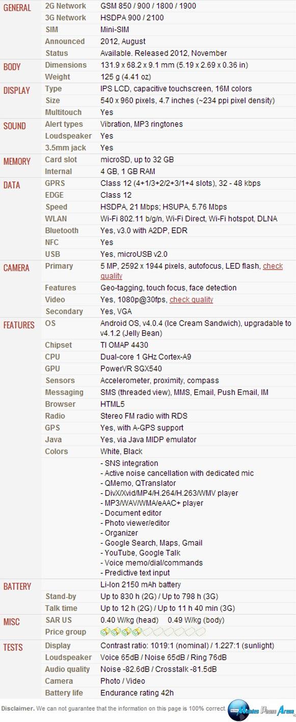 Lg optimus vu ii f200 full phone specifications - Lg Optimus L9 P760 Full Phone Specifications Pic