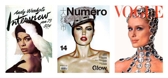 Headpiece magazine covers