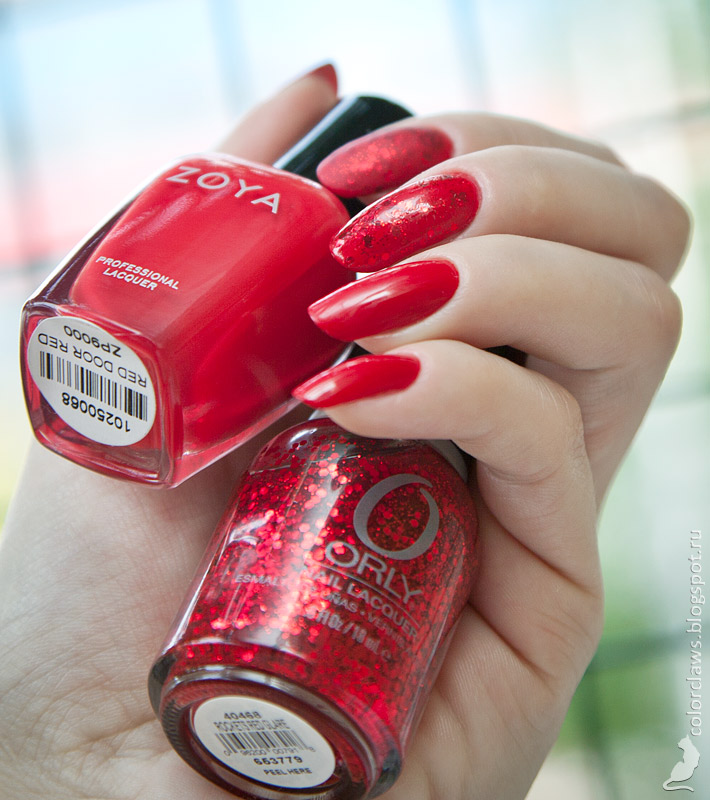 Zoya Red Door Red + Orly Rockets Red Glare