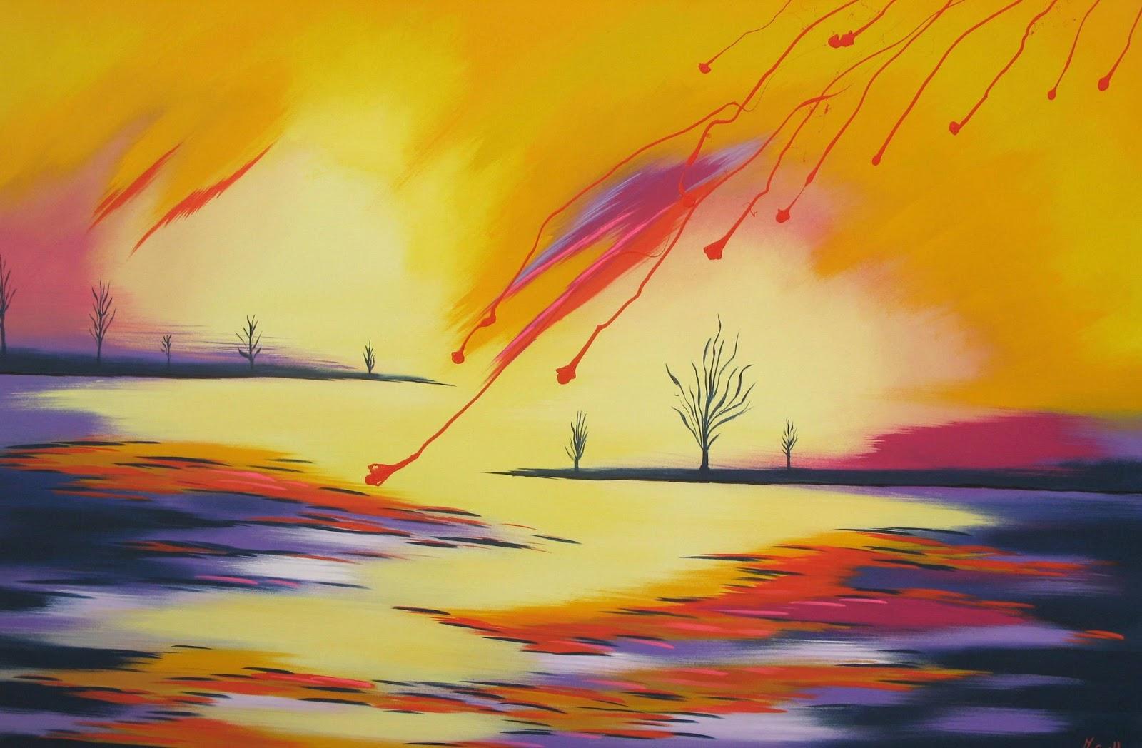 Cuadros modernos pinturas y dibujos paisajes modernos - Cuadros para principiantes ...