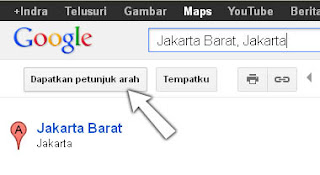 gambar petunjuk arah google map