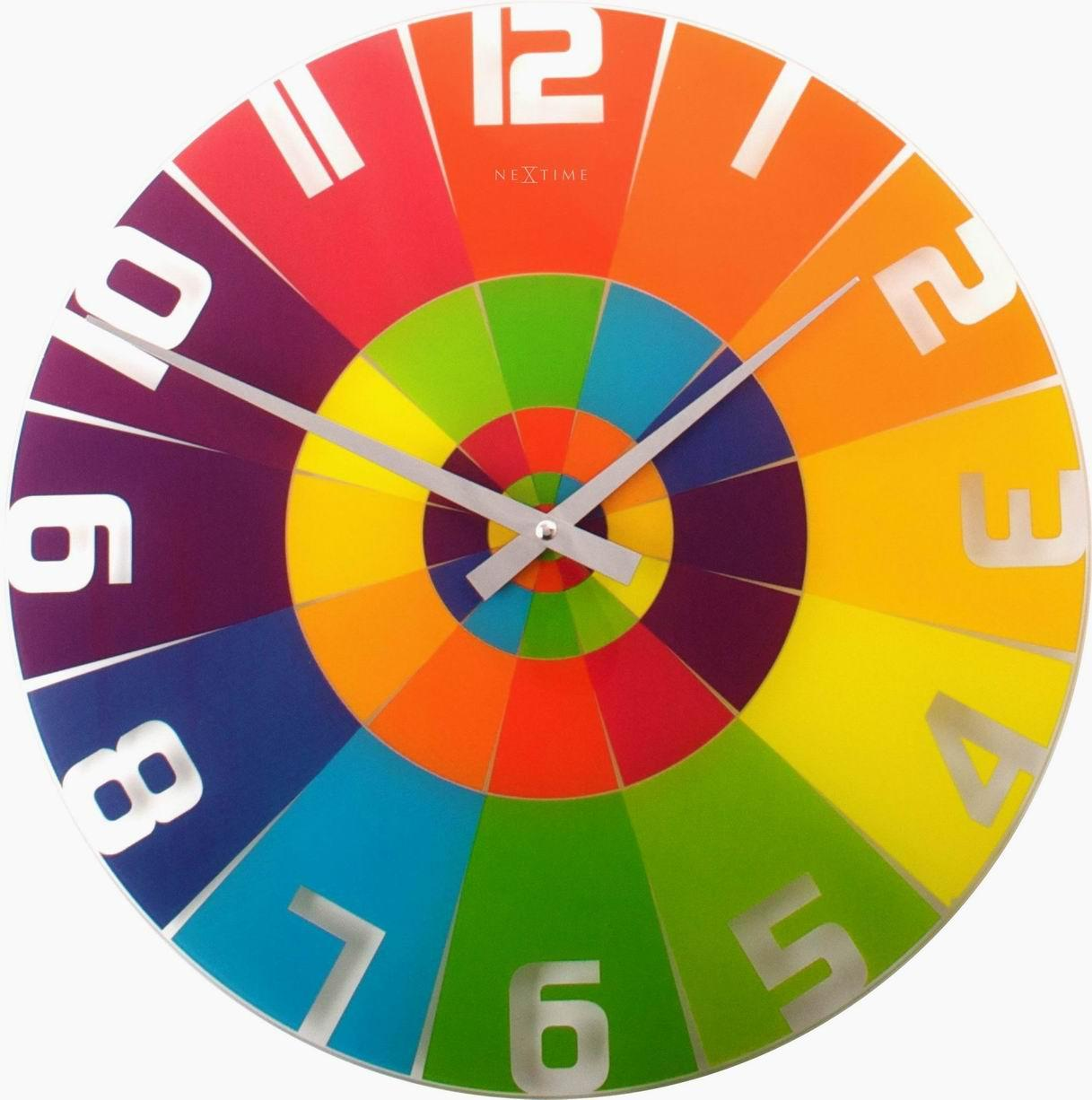 the colorful white colorful clock