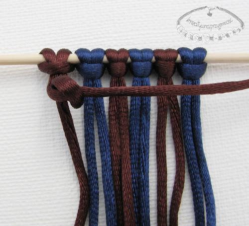 węzeł rypsowy - makrama - 6